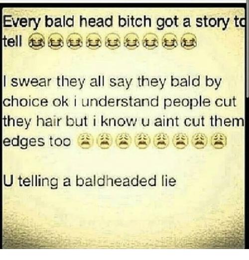 Via Meme Bald Heads Lies Meme Balding
