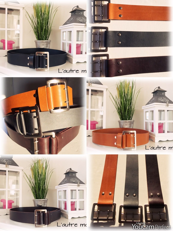 Nouvelles créations, ceintures en cuir sur mesure..