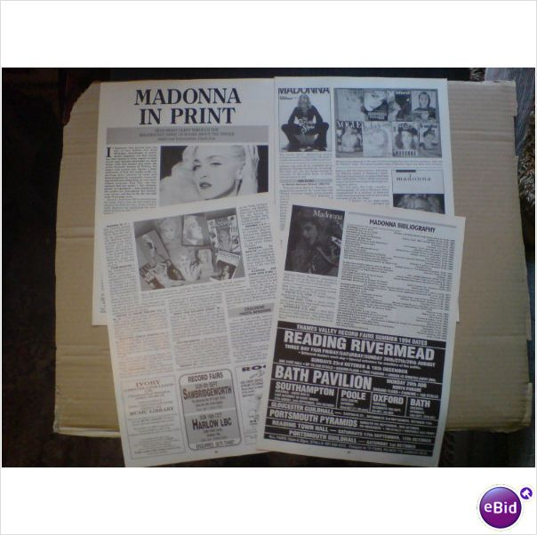 Madonna. In Print 5 + 1/2 page feature Record Collector magazine