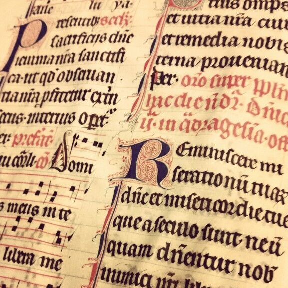 Medieval book fragment from the Swedish National Archives.