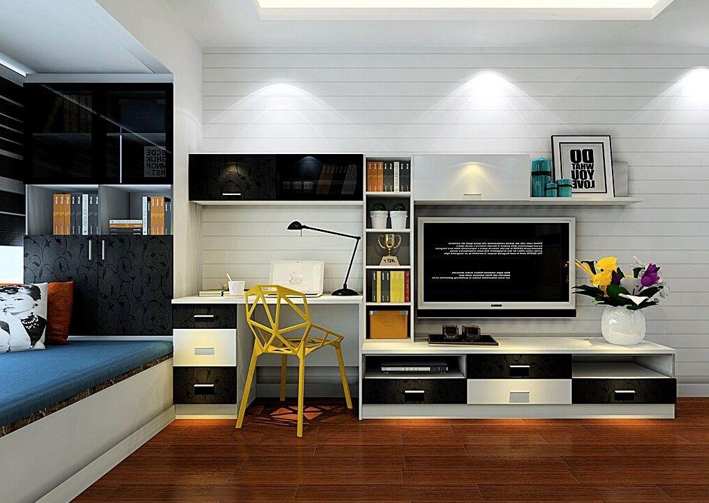 Tv Cabinet And Computer Desk Combination For Bedroom Download D Jpg Jpeg Image 1022 725 Pixels Scaled 87 Desk In Living Room Living Room Tv Home