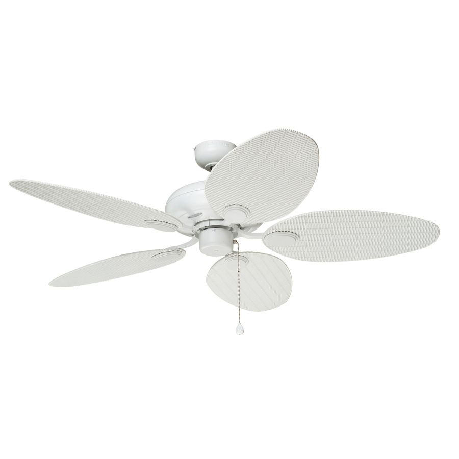 Harbor breeze wck52lmw5n tilghman 52 in matte white outdoor harbor breeze tilghman matte white downrod or close mount indooroutdoor residential ceiling fan lighting technology adaptable energy star aloadofball Image collections
