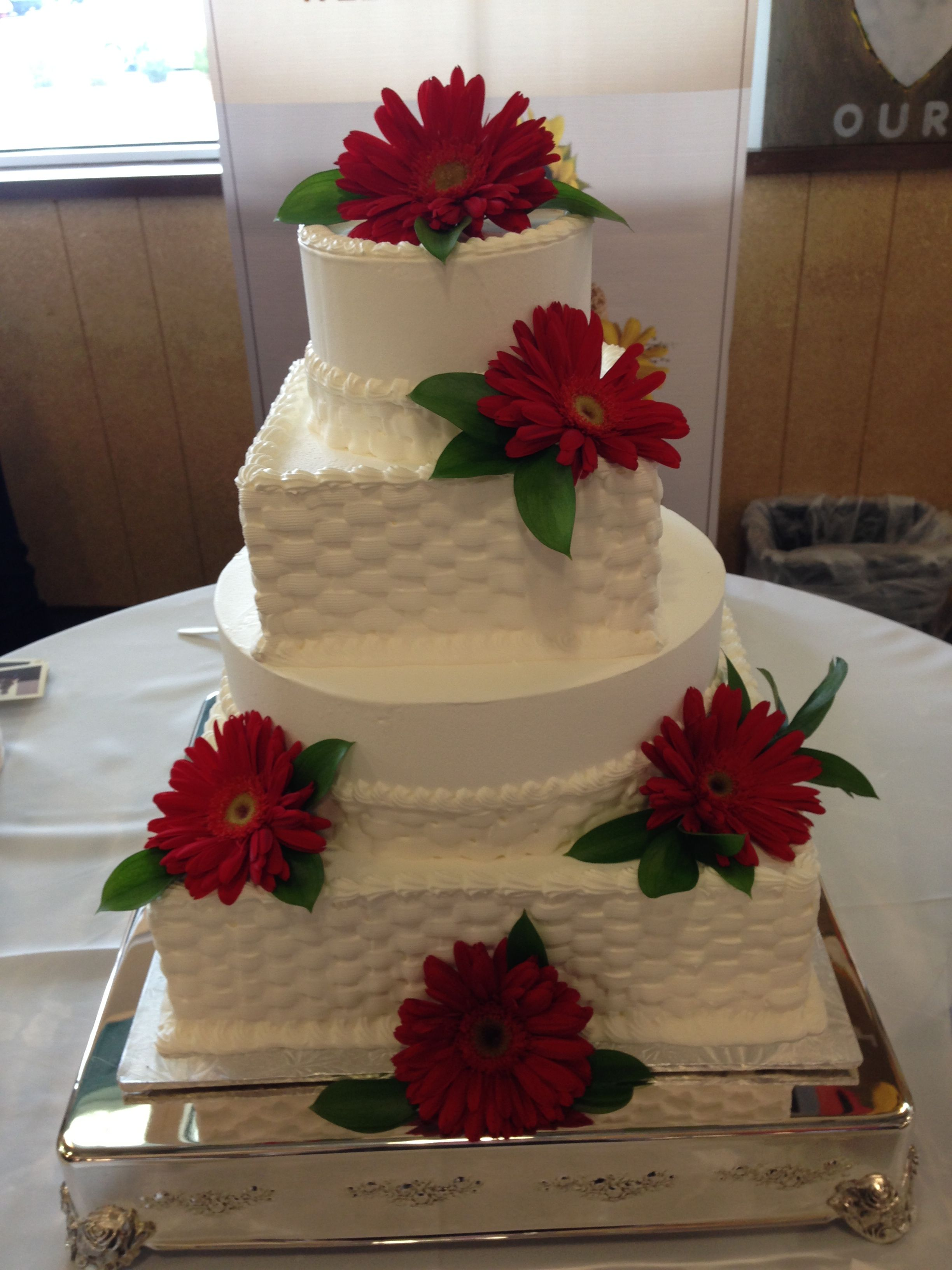 Whole Foods Market Wedding Cake Red Daisies Wedding Cake Red Gorgeous Cakes Cake