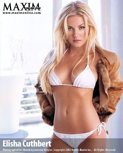 Elisha Cuthbert Maxim Hot Blonde Girls Bikini Pictures Hot