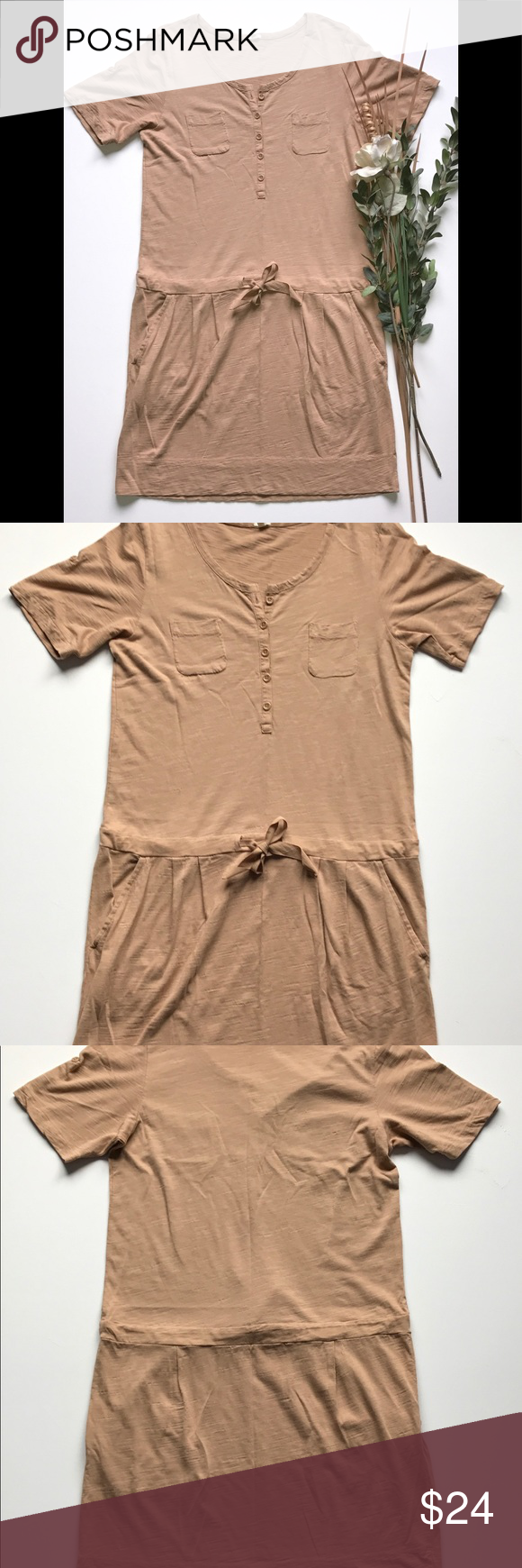 J crew tshirt dress arm pits camels and short sleeves