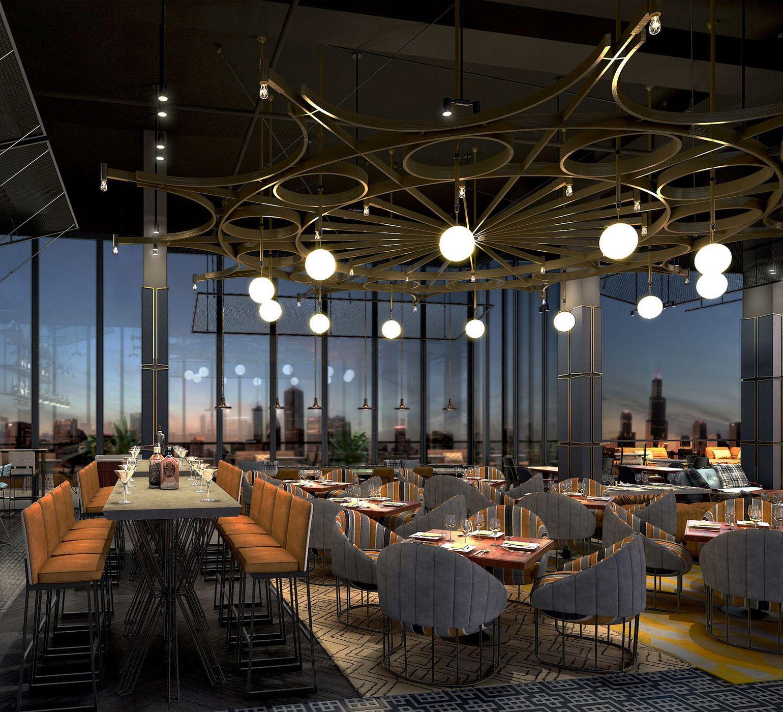 The William Vale Brooklyn New York Indoor Building Interior Design Auditorium Convention Center Long Several