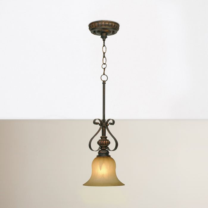 Gregory Scroll 1 Light Mini Pendant