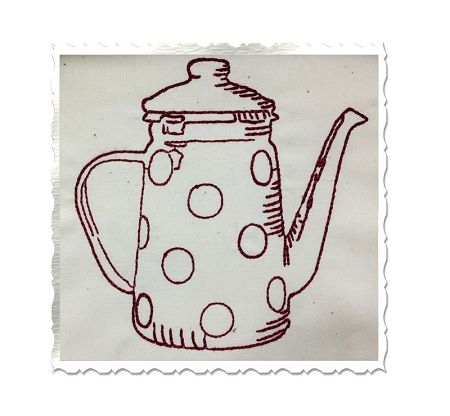 $1.95Redwork Vintage Style Coffee Pot Machine Embroidery Design
