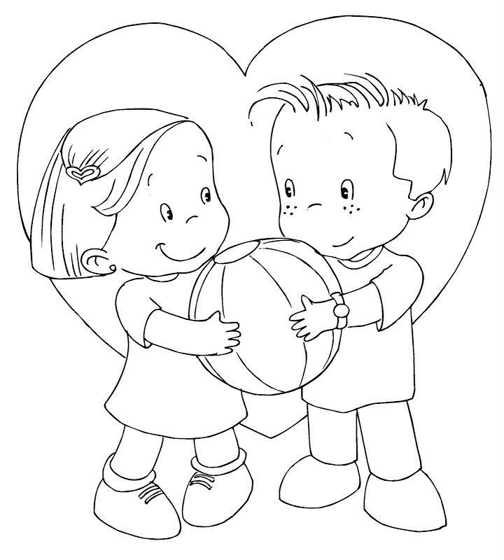 Imágenes de amistad para colorear | NIÑOS Y NIÑAS EN GRUPOS