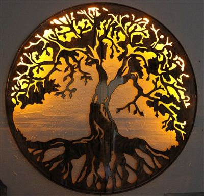 Tree Of Life Metal Wall Art 24 Lit With Ac Powered Led Lights By Hgmw In 2020 Metal Tree Wall Art Metal Tree Tree Art