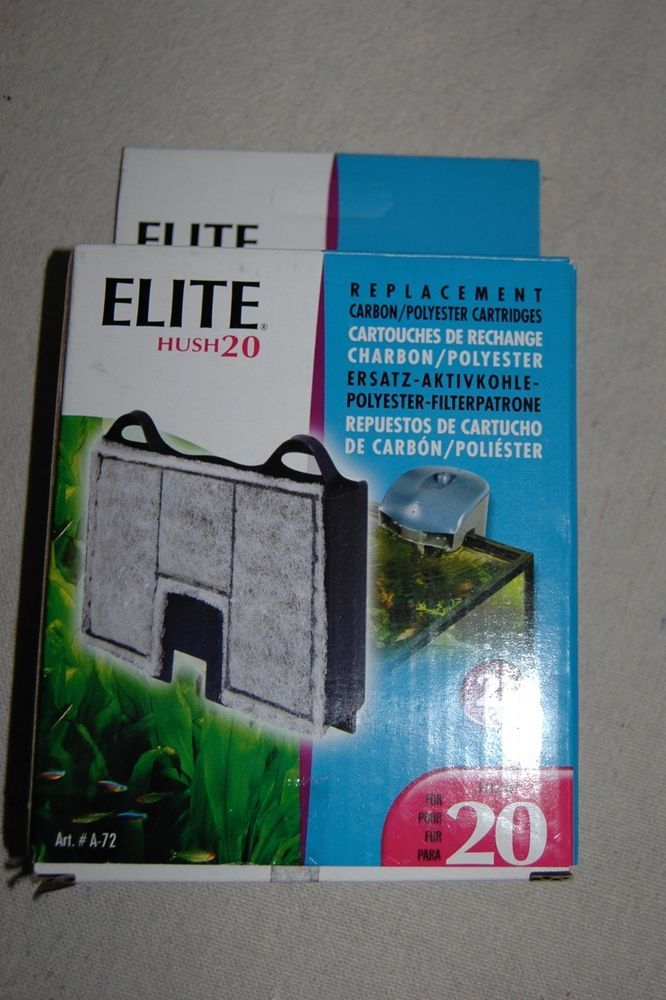 ELITE HUSH 20 Replacement Carbon/Polyester Cartridges, 2 PK #Hagen
