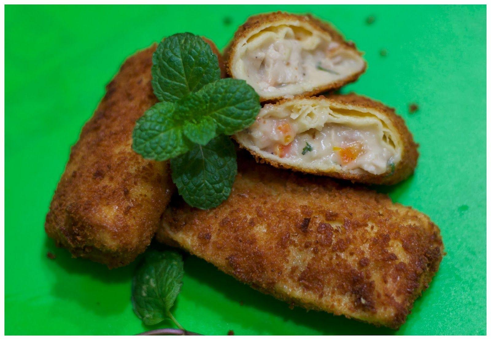 Indonesian Medan Food Risol Isi Ragout Ayam Chicken Ragout Rissoles Food Savory Snacks Rissoles Recipe