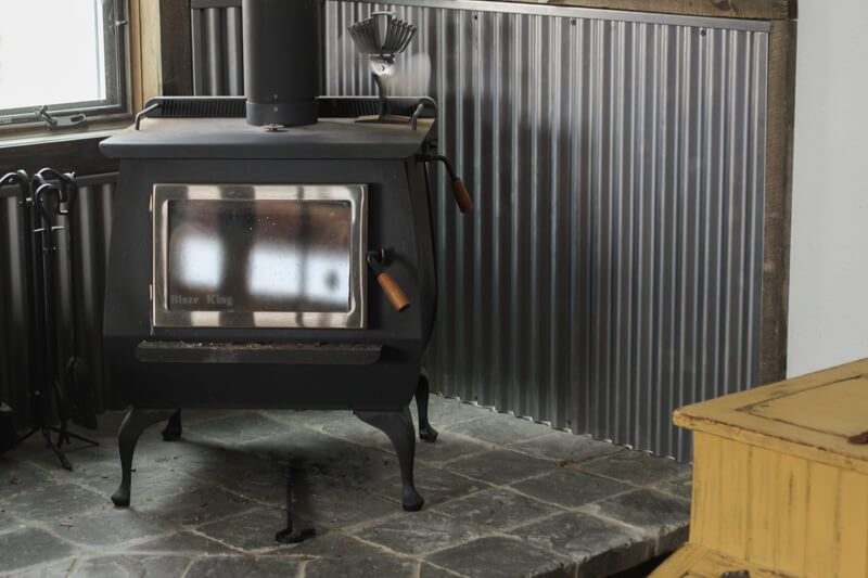 Heating With Wood On The Homestead The Prairie Homestead Wood Stove Decor Corner Wood Stove Wood Stove Surround