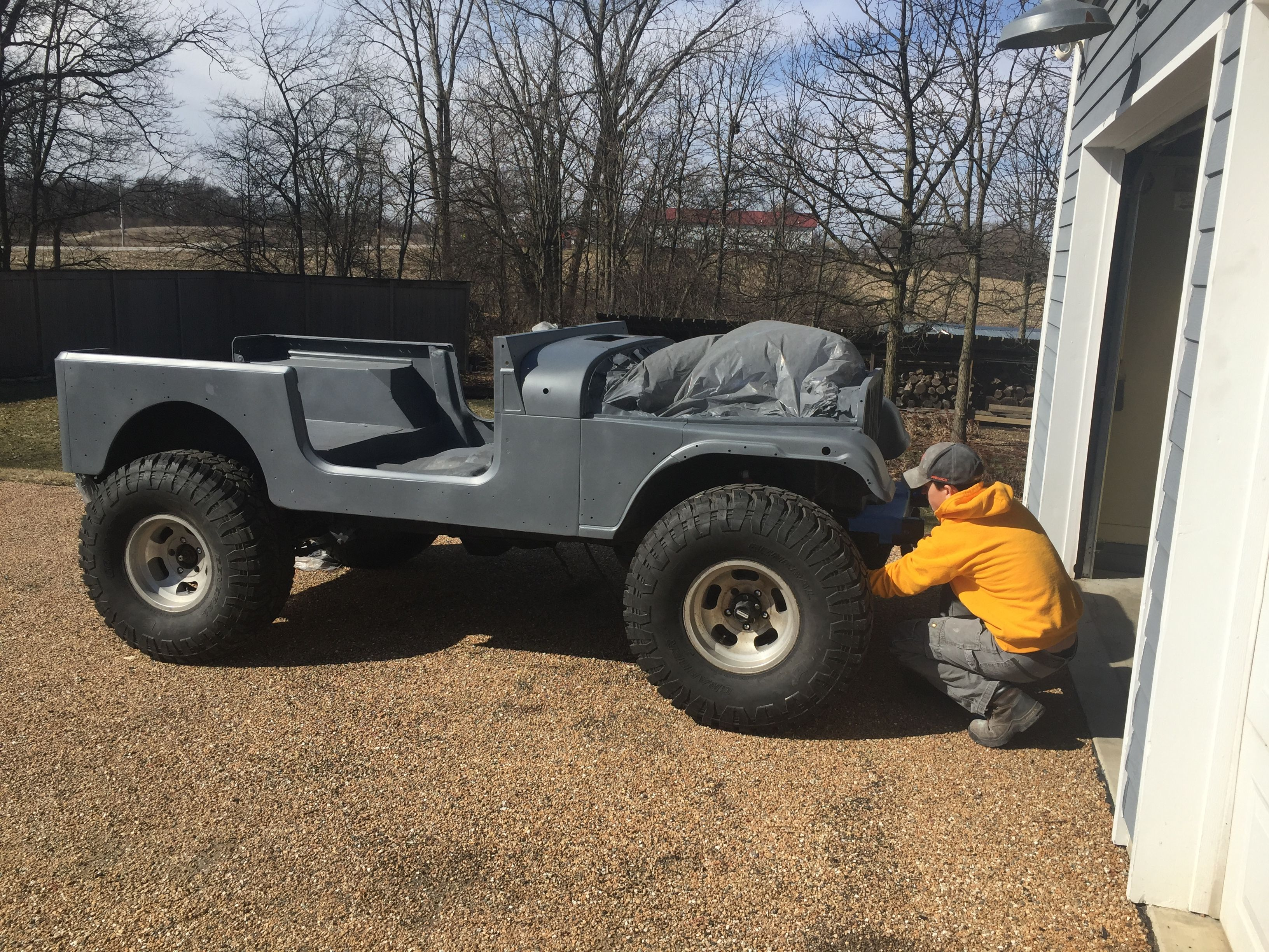 Time For Wet Sanding And Then More Primer Jeep Cj Jeep Monster Trucks