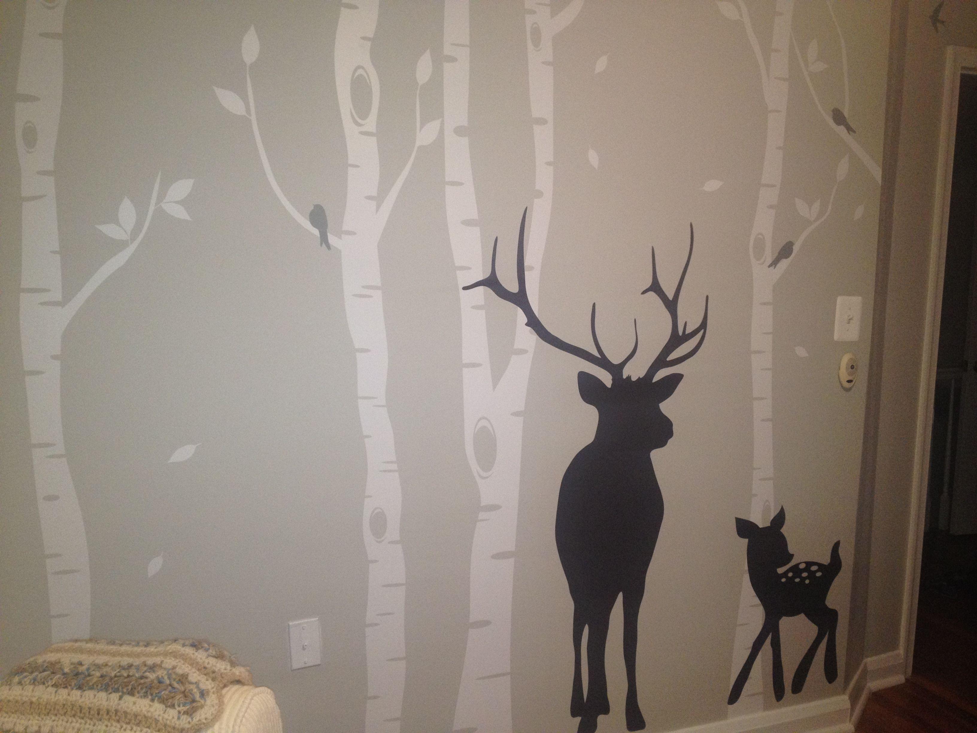 jax s nursery deer woods wall decal pattern wall stickers jax s nursery deer woods wall decal