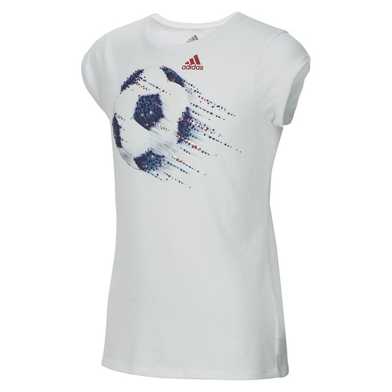 adidas Girls Round Neck Short Sleeve Graphic T-Shirt-Big Kid ... cbac0ae35