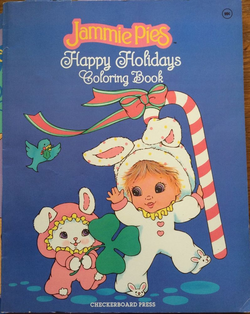 Vintage Rare Htf Jammie Pies Baby Doll Coloring Books Hallmark Cards Hallmark Cards Childhood Love Coloring Books