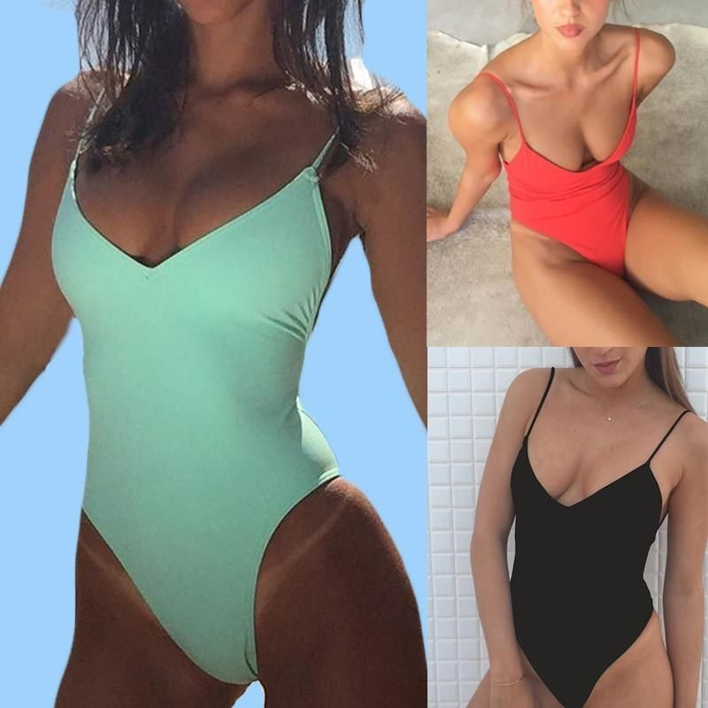 Mandy - V-Neck High Rise Monokini