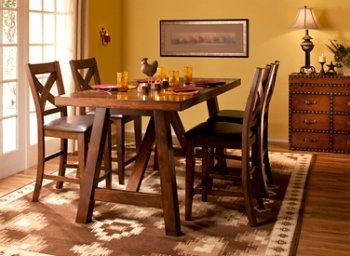 this royce 5 piece counter height dining set is where inspired mealtimes take shape