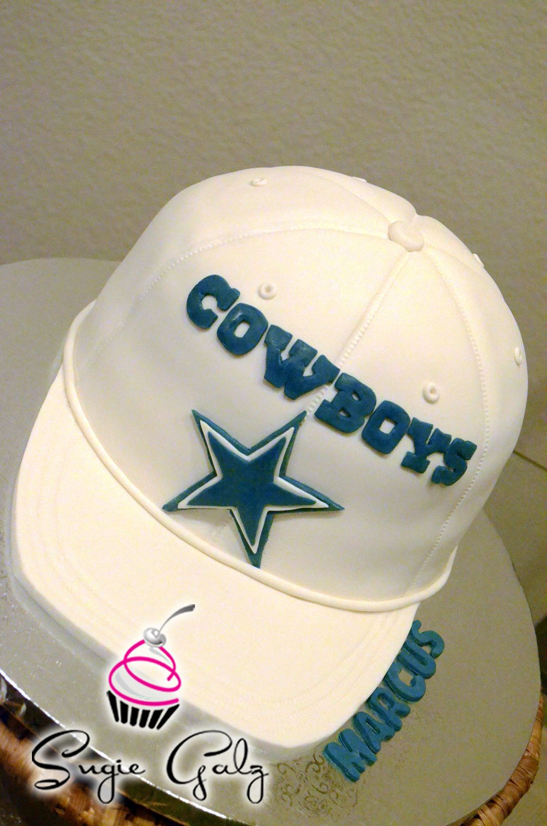 Stupendous Dallas Cowboys Hat Birthday Cake By Sugie Galz In Austin Texas Funny Birthday Cards Online Alyptdamsfinfo