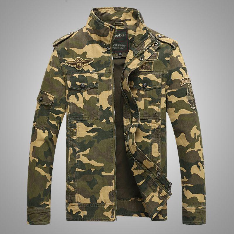 Men Bomber Jacket AutumnWinter Men Camouflage Jacket And