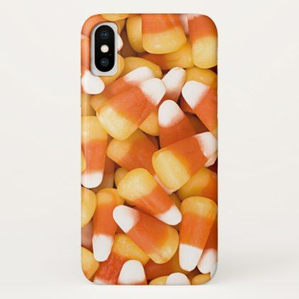 Fun Yellow White Orange Halloween Candy Corn iPhone X Case - halloween design