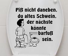 aufkleber wc deckel toiletten tattoo klo sticker bad wandtattoo spruch 3c003 coole spr che. Black Bedroom Furniture Sets. Home Design Ideas
