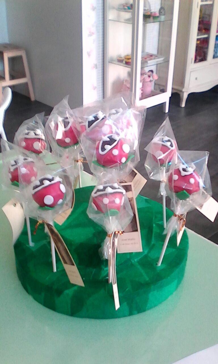 Plantas carnivoras de Mario Bross para la comunion de Jose