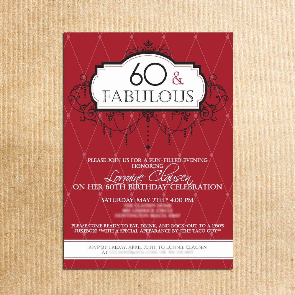 60 Th Birthday Invitation New 20 Ideas 60th Birthday Party Invitations 60th Birthday Party Invitations Birthday Party Invitation Wording Party Invite Template