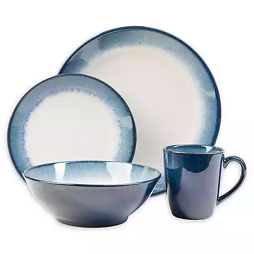 Blue Green Dinnerware Sets Bed Bath Beyond Green Dinnerware Set