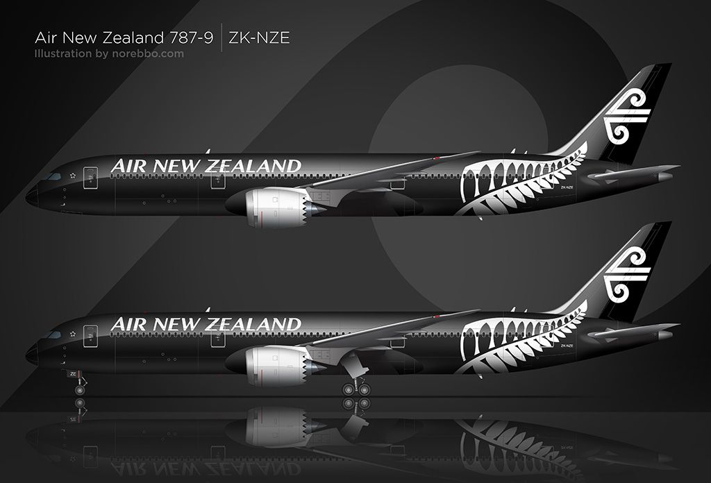 Air New Zealand Boeing 787-9 - some fun facts | Jetliner / Cargo ...