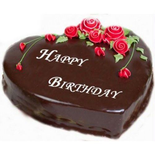 Wish Your Darling Happy Birthday With A Heart Shaped Chocolate Cake