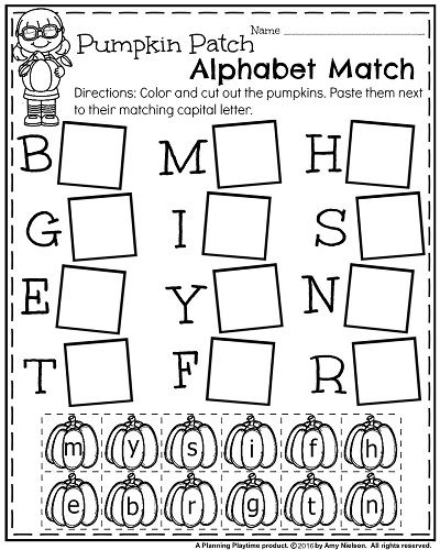 October Kindergarten Worksheets - Planning Playtime Preschool Worksheets, Alphabet  Worksheets Kindergarten, Alphabet Kindergarten