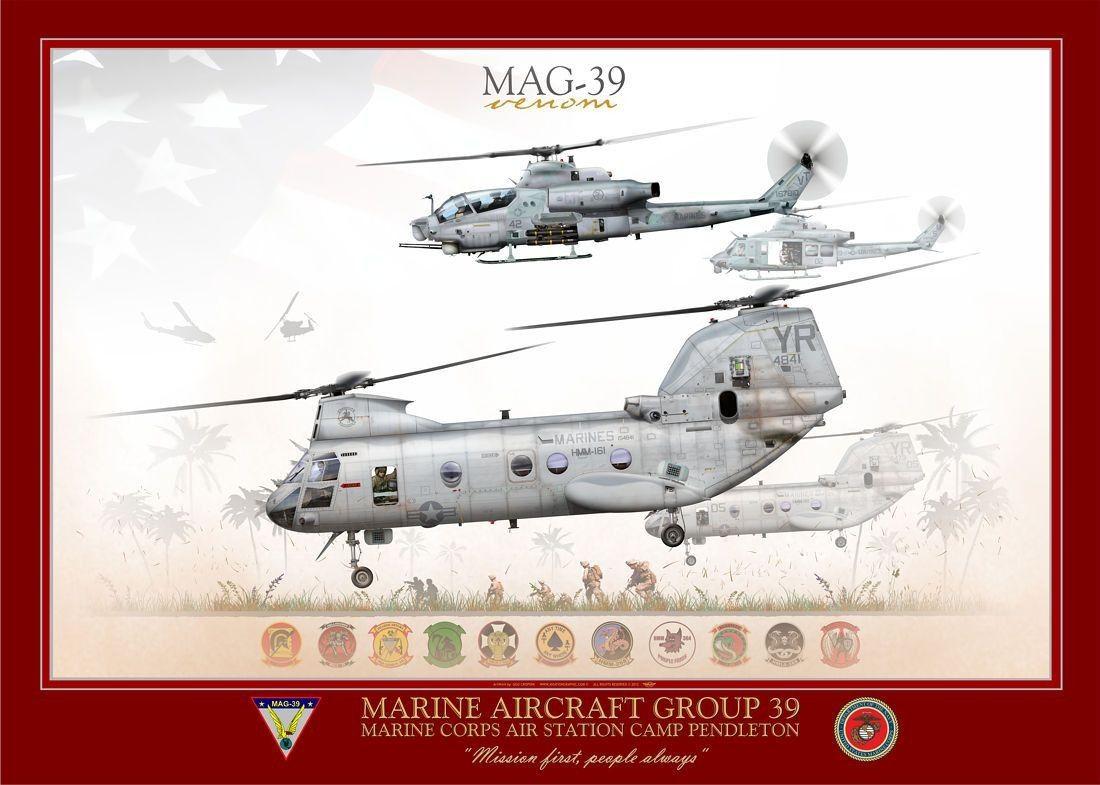 "UNITED STATES MARINE CORPS MARINE AIR GROUP 39 MAG-39 ""Venom"" MCAS Camp Pendleton"