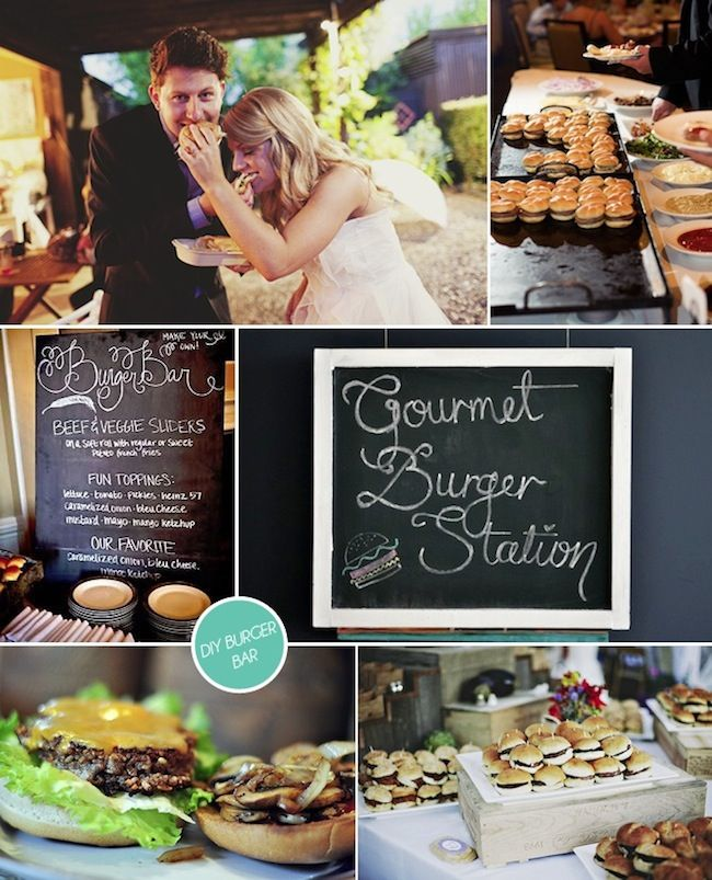 Summer Wedding Buffet Menu Ideas: Hot Dog And Burger Bars