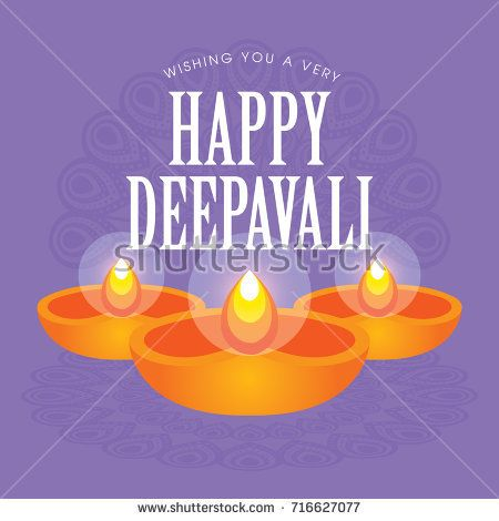 Diwali or Deepavali greetings template with beautiful