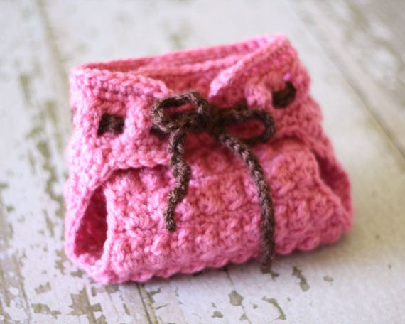 Crochet Pattern The Hailey Diaper Cover With Texture Sizes Newborn