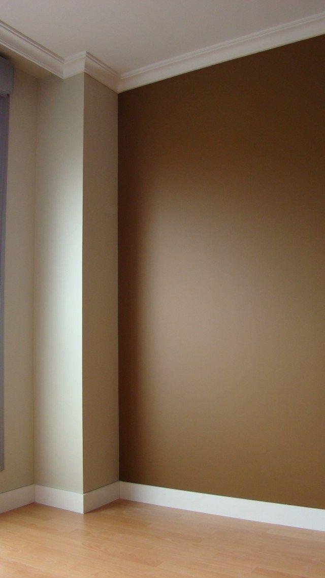 Color marron pintura interior casa colores de casas - Colores de pinturas para paredes de salon ...
