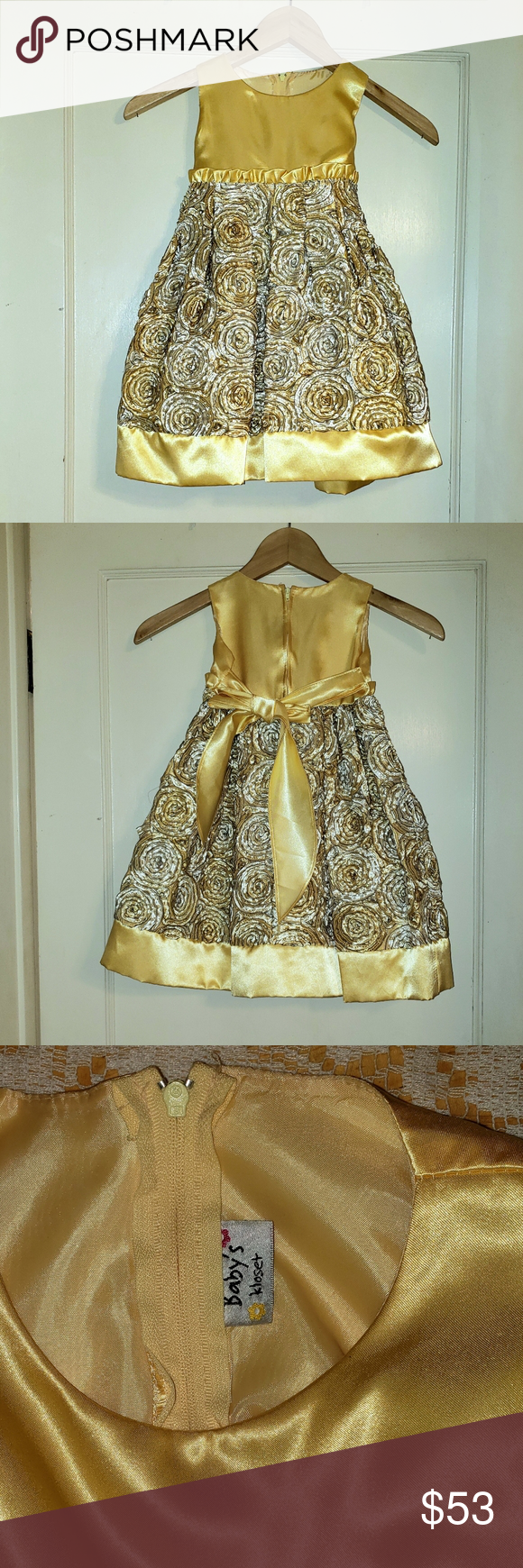 Baby S Kloset Gold Party Holiday Dress 4t 4t Dress Holiday Dresses Dresses [ 1740 x 580 Pixel ]