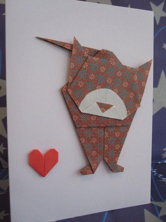 Открытки в виде оригами на день рождения, медведев прикол