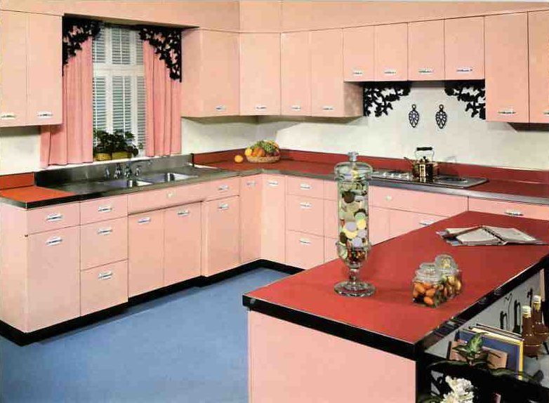 Pink Kitchen Cabinets where to find vintage kitchen cabinet pulls - from youngstown