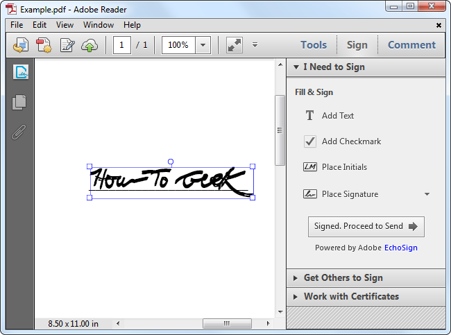 How To Electronically Sign Pdf Documents Without Printing And Scanning Them Signs Documents Electronic Signature
