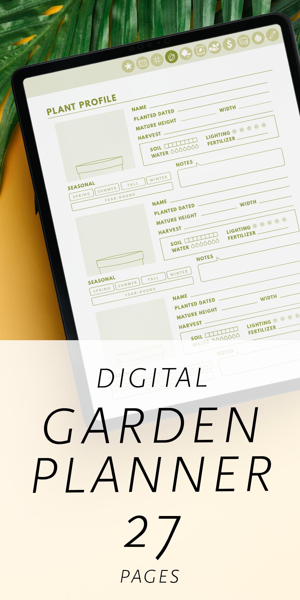 Digital Garden Planner, Digital Garden Journal, Digital ...