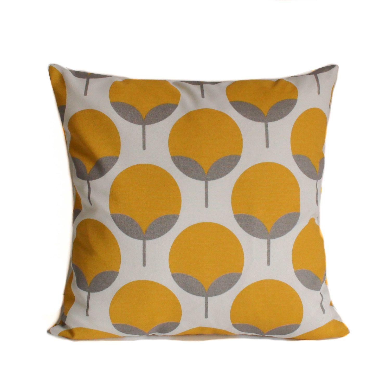 Yellow Outdoor Pillows, 16x16, Grey Outdoor Pillow, Outdoor Pillow Cover,  Outdoor Throw Pillows, Modern Outdoor Pillow, Outdoor Cushions