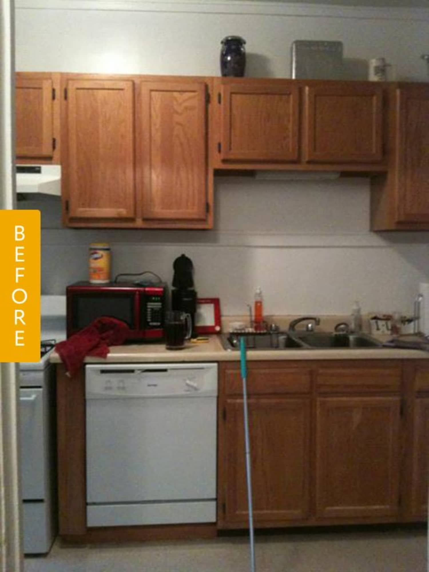 Before after a rental kitchen gets a landlordfriendly
