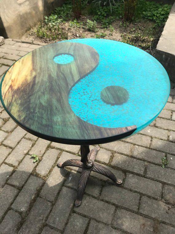 tableepoxy Round tablecoffee epoxy resin tableburned rdxoCBeW