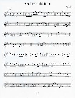 Set Fire To The Rain Flute Sheet Music Violin Sheet Music