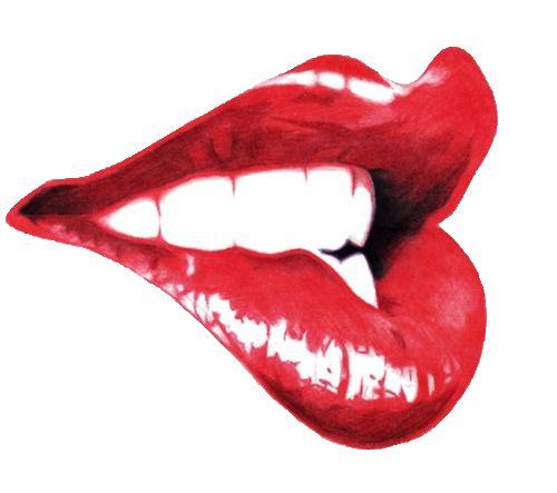 Lip Biting Tumblr Lips Drawing Lip Art Red Lips