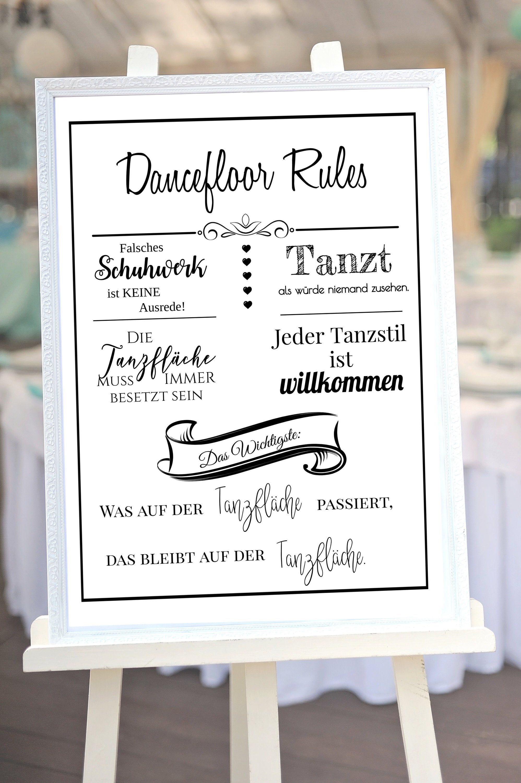 Dancefloor Rules Regeln Fur Die Tanzflache Dekoration Fur Die Hochzeit Lustiges Schild Wedding Humor Night Wedding Reception Marriage Reception