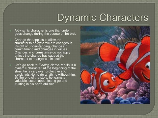 This is an example of a dynamic character it is an example of ...